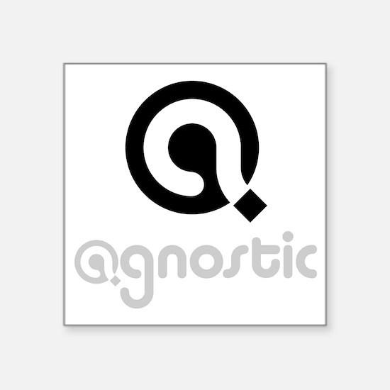 "Cute Agnostics Square Sticker 3"" x 3"""