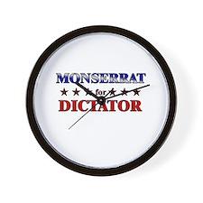 MONSERRAT for dictator Wall Clock