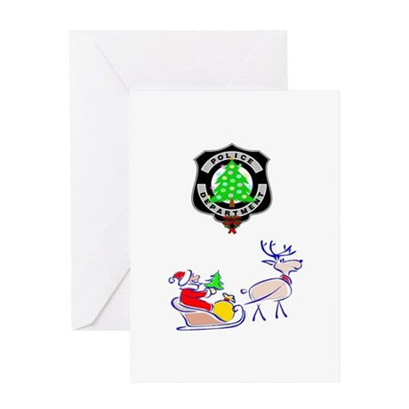 Christmas Police Greeting Card