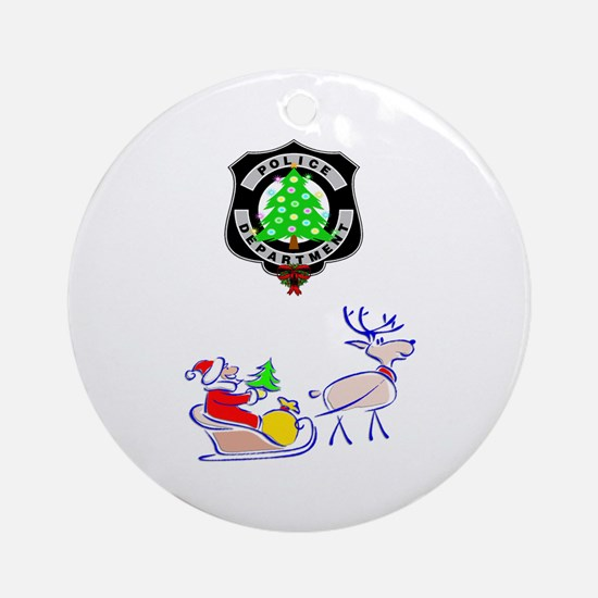 Police Christmas Round Ornament