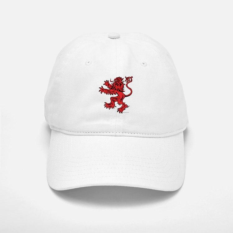 Lion Red Black Baseball Baseball Cap