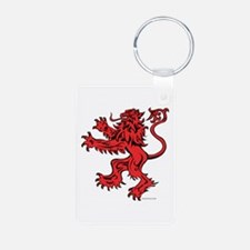 Lion Red Black Aluminum Photo Keychain