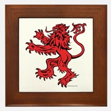 Lion Red Black Framed Tile