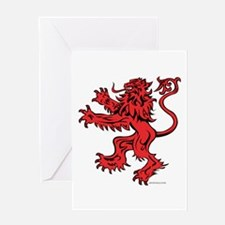 Lion Red Black Greeting Card