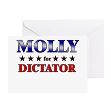 MOLLY for dictator Greeting Card