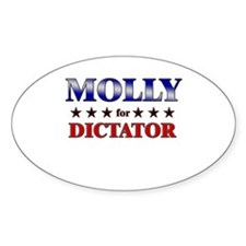 MOLLY for dictator Oval Decal