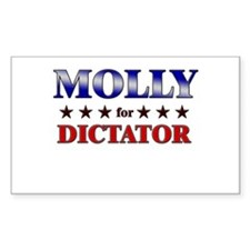 MOLLY for dictator Rectangle Decal