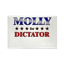 MOLLY for dictator Rectangle Magnet