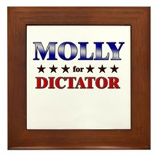 MOLLY for dictator Framed Tile