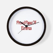 Proud Papa of Emma Wall Clock