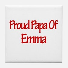 Proud Papa of Emma Tile Coaster