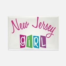 NEW JERSEY GIRL! Rectangle Magnet (10 pack)