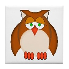 Wise Owl Tile Coaster