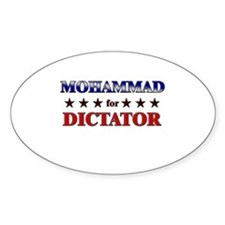 MOHAMMAD for dictator Oval Decal