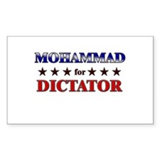 MOHAMMAD for dictator Rectangle Decal