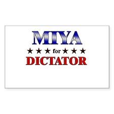 MIYA for dictator Rectangle Decal