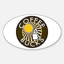 Coffee Bucks Oval Decal