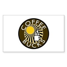 Coffee Bucks Rectangle Decal