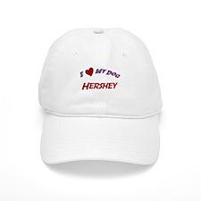 I Love My Dog Hershey Baseball Cap