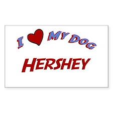 I Love My Dog Hershey Rectangle Decal