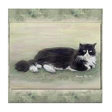 Julio the Cat Tile Coaster