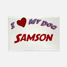 I Love My Dog Samson Rectangle Magnet