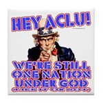 Under God Anti-ACLU Tile Coaster