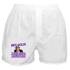 Under God Anti-ACLU Boxer Shorts