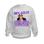 Under God Anti-ACLU Kids Sweatshirt