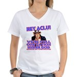 Under God Anti-ACLU Women's V-Neck T-Shirt