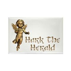Hark the Herald Rectangle Magnet