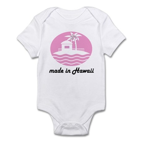 Made In HAWAII pink Infant Bodysuit