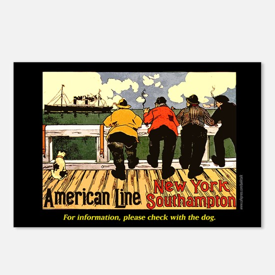 American Line... Postcards (Package of 8)