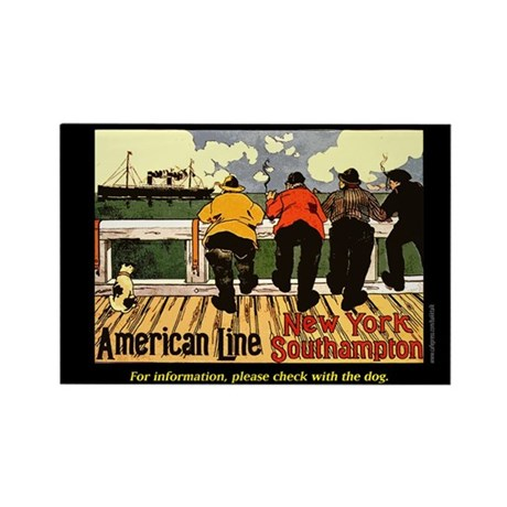 American Line... Rectangle Magnet (100 pack)