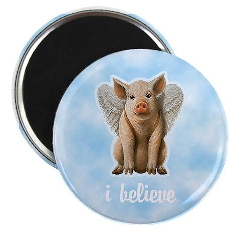 I Believe Flying Pig Magnet
