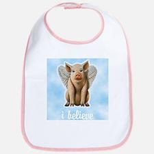 I Believe Flying Pig Bib
