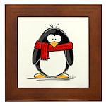 Red Scarf Penguin Framed Tile