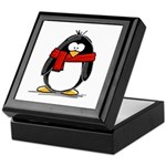 Red Scarf Penguin Keepsake Box