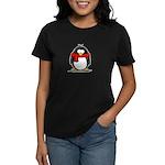Red Scarf Penguin Women's Dark T-Shirt