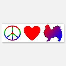 Peace, Love, Japanese Chin Bumper Bumper Bumper Sticker
