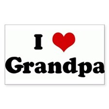 I Love Grandpa Rectangle Decal