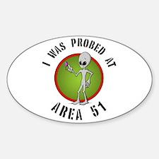 Alien Probe Oval Decal