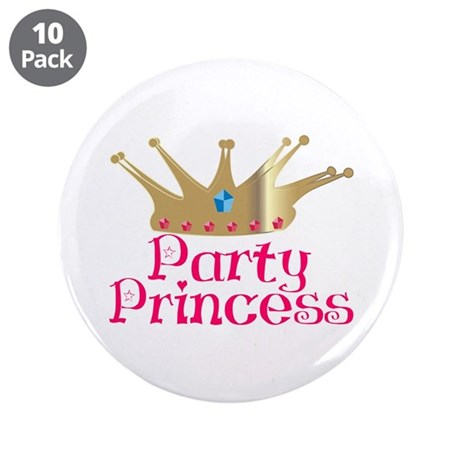 "Party Princess 3.5"" Button (10 pack)"