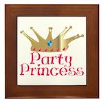 Party Princess Framed Tile