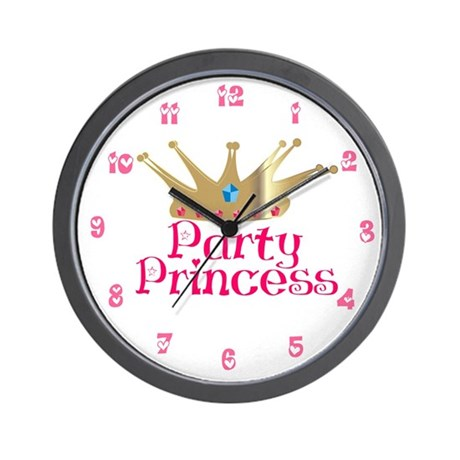 Party Princess Wall Clock