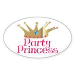 Party Princess Oval Sticker