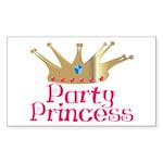 Party Princess Rectangle Sticker