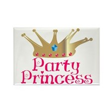 Party Princess Rectangle Magnet