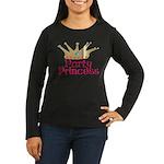 Party Princess Women's Long Sleeve Dark T-Shirt