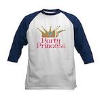 Party Princess Kids Baseball Jersey